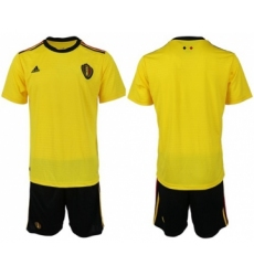 Belgium Blank Away Soccer Country Jersey