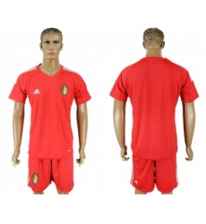Belgium Blank Red Goalkeeper Soccer Country Jersey