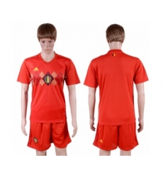 Belgium Blank Red Soccer Country Jersey