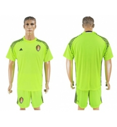 Belgium Blank Shiny Green Goalkeeper Soccer Country Jersey