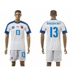 Slovakia #13 Hrosovsky Home Soccer Country Jersey
