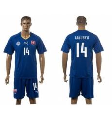 Slovakia #14 Jakubko Blue Away Soccer Country Jersey