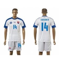 Slovakia #14 Jakubko Home Soccer Country Jersey