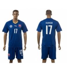 Slovakia #17 Hamsik Blue Away Soccer Country Jersey