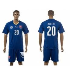 Slovakia #20 Robert Blue Away Soccer Country Jersey