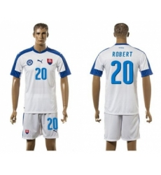 Slovakia #20 Robert Home Soccer Country Jersey
