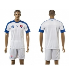 Slovakia Blank Home Soccer Country Jersey