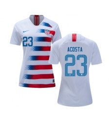 Women's USA #23 Acosta Home Soccer Country Jersey