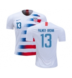 USA #13 Palmer-Brown Home Kid Soccer Country Jersey
