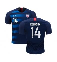 USA #14 Robinson Away Kid Soccer Country Jersey