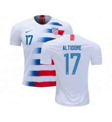 USA #17 Altidore Home Kid Soccer Country Jersey