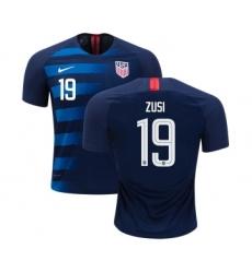USA #19 Zusi Away Kid Soccer Country Jersey
