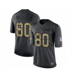 Men's Detroit Lions #80 Danny Amendola Limited Black 2016 Salute to Service Football Jersey