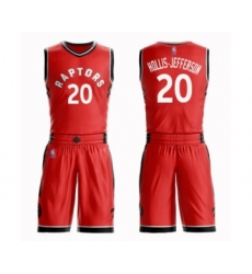 Men's Toronto Raptors #20 Rondae Hollis-Jefferson Authentic Red Basketball Suit Jersey - Icon Edition