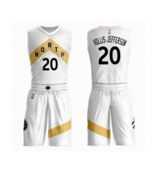 Men's Toronto Raptors #20 Rondae Hollis-Jefferson Swingman White Basketball Suit Jersey - City Edition