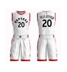 Women's Toronto Raptors #20 Rondae Hollis-Jefferson Swingman White Basketball Suit Jersey - Association Edition