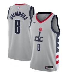 Men's Washington Wizards #8 Rui Hachimura Nike Gray 2020-21 Swingman Player Jersey