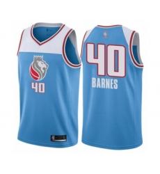 Women's Sacramento Kings #40 Harrison Barnes Swingman Blue Basketball Jersey - City Edition