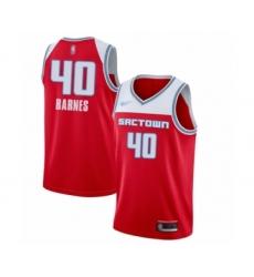 Youth Sacramento Kings #40 Harrison Barnes Swingman Red Basketball Jersey - 2019-20 City Edition