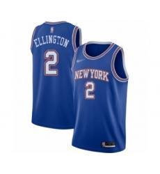 Men's New York Knicks #2 Wayne Ellington Authentic Blue Basketball Jersey - Statement Edition