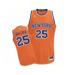 Women's New York Knicks #25 Reggie Bullock Authentic Orange Alternate Basketball Jersey