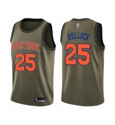 Youth New York Knicks #25 Reggie Bullock Swingman Green Salute to Service Basketball Jersey