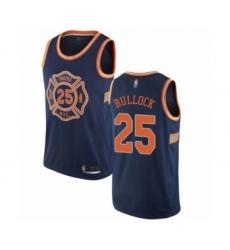 Youth New York Knicks #25 Reggie Bullock Swingman Navy Blue Basketball Jersey - City Edition