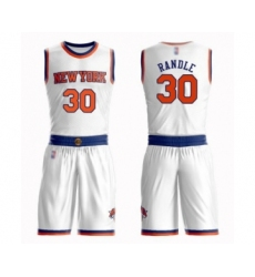 Men's New York Knicks #30 Julius Randle Swingman White Basketball Suit Jersey - Association Edition