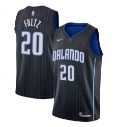 Men's Orlando Magic #20 Markelle Fultz Nike Black 2020-21 Swingman Jersey