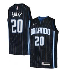 Youth Orlando Magic #20 Markelle Fultz Nike Black 2020-21 Swingman Jersey