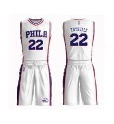Men's Philadelphia 76ers #22 Mattise Thybulle Swingman White Basketball Suit Jersey - Association Edition