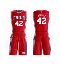 Men's Philadelphia 76ers #42 Al Horford Swingman Red Basketball Suit Jersey Statement Edition