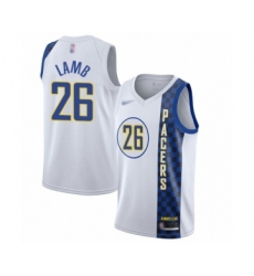 Men's Indiana Pacers #26 Jeremy Lamb Swingman White Basketball Jersey - 2019 20 City Edition