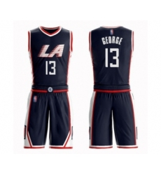 Youth Los Angeles Clippers #13 Paul George Swingman Navy Blue Basketball Suit Jersey - City Edition
