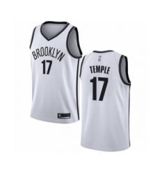 Men's Brooklyn Nets #17 Garrett Temple Authentic White Basketball Jersey - Association Edition