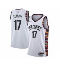 Men's Brooklyn Nets #17 Garrett Temple Swingman White Basketball Jersey - 2019 20 City Edition