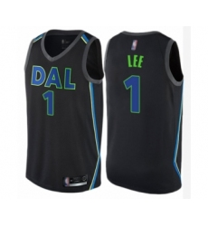 Men's Dallas Mavericks #1 Courtney Lee Authentic Black Basketball Jersey - City Edition