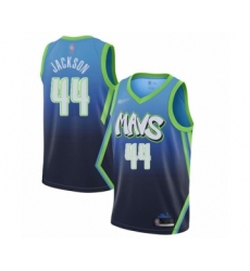 Women's Dallas Mavericks #44 Justin Jackson Swingman Blue Basketball Jersey - 2019-20 City Edition