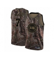 Men's Detroit Pistons #7 Thon Maker Swingman Camo Realtree Collection Basketball Jersey