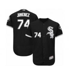 Men's Chicago White Sox #74 Eloy Jimenez Black Alternate Flex Base Authentic Collection Baseball Jersey