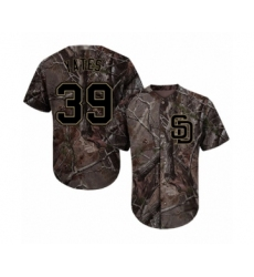 Youth San Diego Padres #39 Kirby Yates Authentic Camo Realtree Collection Flex Base Baseball Jersey