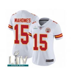 Women's Kansas City Chiefs #15 Patrick Mahomes White Vapor Untouchable Limited Player Super Bowl LIV Bound Football Jersey
