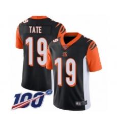 Men's Cincinnati Bengals #19 Auden Tate Black Team Color Vapor Untouchable Limited Player 100th Season Football Jersey