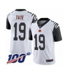 Men's Cincinnati Bengals #19 Auden Tate Limited White Rush Vapor Untouchable 100th Season Football Jersey