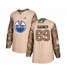 Men's Edmonton Oilers #89 Sam Gagner Authentic Camo Veterans Day Practice Hockey Jersey