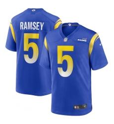Men's Los Angeles Rams #5 Jalen Ramsey Nike Blue Alternate Limited Jersey
