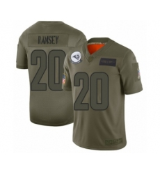 Youth Los Angeles Rams #20 Jalen Ramsey Limited Camo 2019 Salute to Service Football Jersey