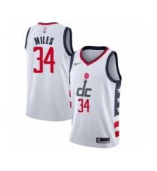 Men's Washington Wizards #34 C.J. Miles Swingman White Basketball Jersey - 2019 20 City Edition