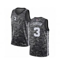 Men's San Antonio Spurs #3 Keldon Johnson Authentic Camo Basketball Jersey - City Edition