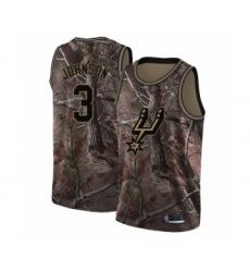 Men's San Antonio Spurs #3 Keldon Johnson Swingman Camo Realtree Collection Basketball Jersey